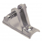 Deck hinge with concave base, 90°, removable pin
