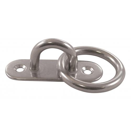 Pontet sur platine avec anneau