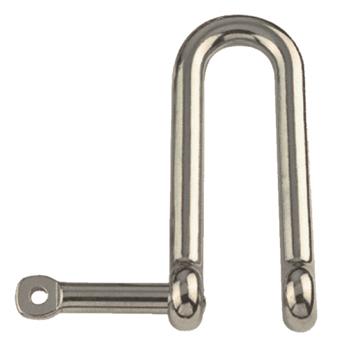 Straight d-shackle, long with captive pin