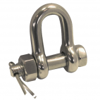 D-shackle with fastening bolt, forged