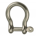 Bow shackle with captive pin