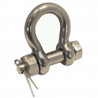Bow shackle with fastening bolt, forged