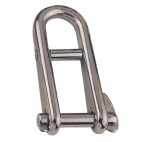 Straight quick shackle with clip