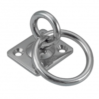 Anillo móvil sobre placa cuadrada con anillo