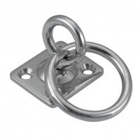 Anneau mobile sur platine carrée avec anneau