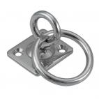 Anel móvel na platina quadrada com anel