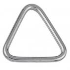 Anel triangular, soldado e polido