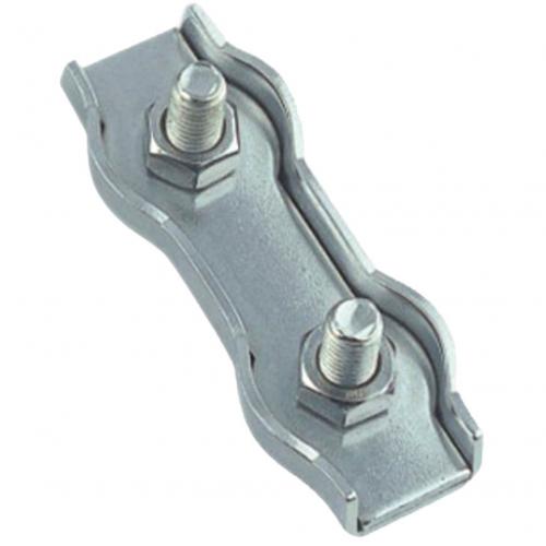 Duplex wire rope clip