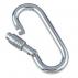 Spring hook opening with self-locking nut