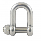 D-Shackle with hexagon socket and safety nut