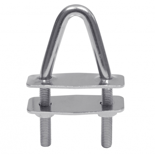 U-bolt with counter plates and pull-off nuts