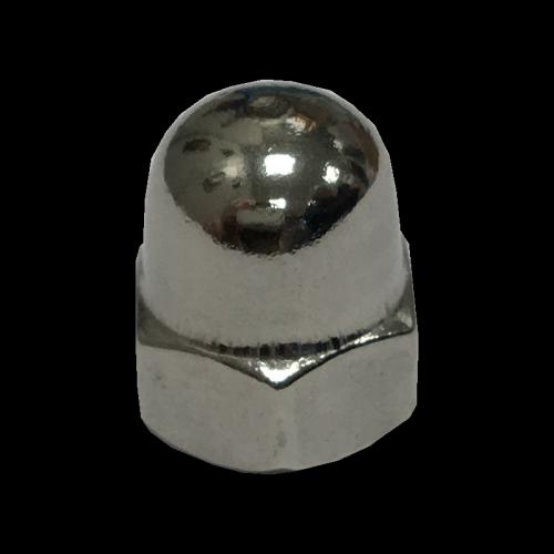 Dado esagonale cieco con calotta sferica Inox A4