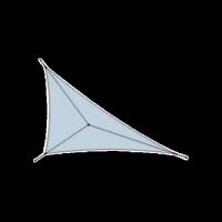 Voile d'ombrage tissu ajouré triangulaire