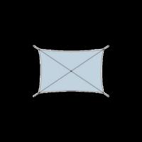 Voile d'ombrage tissu ajouré rectangulaire