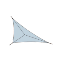 Voile d'ombrage tissu à voile triangulaire