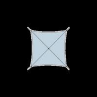 """Voile d'ombrage tissu à """"voile"""" carré"""