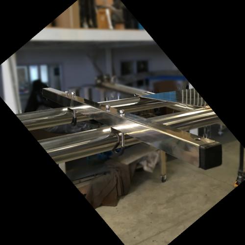 Support panneau solaire adaptable sur arceau for Panneau inox sur mesure