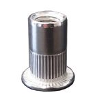 Blind rivet nuts with flat head