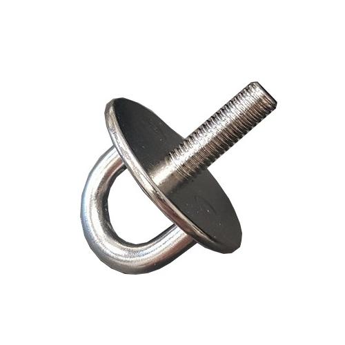 Pontet sur Platine Ronde � 33mm inox A2 Tige Filet'e Lot de 3 anneau
