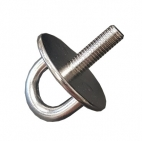 Eye plate round type with thread