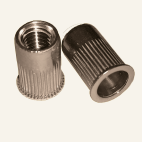 Blind rivet nuts with small CSK straight shank open type knurled