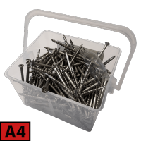 Box of coutersunk screws to terrace