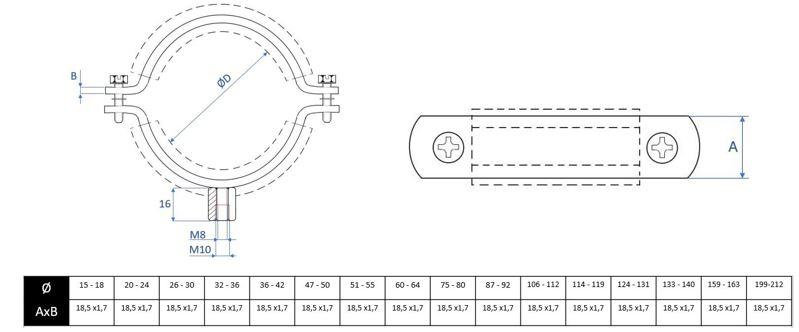 Collier isophonique inox a2 mpi